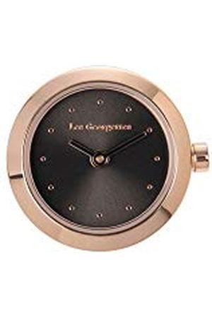 Les Georgettes Dames Horloges - Roestvrijstalen behuizing 21,5 cm rond rosé /zwart
