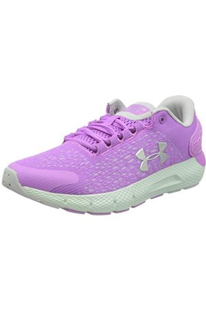 Under Armour Unisex Kids Grade School Charged Rogue 2 Running Shoe, Exotic Bloom Halo Gray Metallic Silver 501, 5 UK