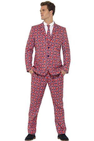 Smiffys Heren Union Jack pak kostuum, jas, broek en stropdas, maat: L, 43520