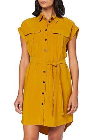 VERO MODA Dames Vmvenus Wide S/L Short Short Shirt Dress Wvn Jurk