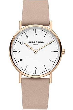 liebeskind LT-0166-LQ, Dames, Analoog Kwarts Horloge, Met Lederen Armband, -Rosé