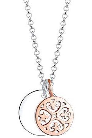 Elli Halsketting Bi Color Ornament Kreis 925 Sterling Silber