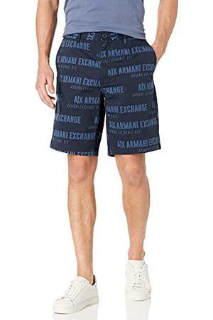 Armani Heren Navy Big Bold Logo Bermuda shorts