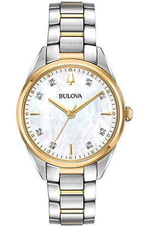BULOVA Dames Horloges - Dames analoog kwarts horloge met roestvrij stalen armband 98P184