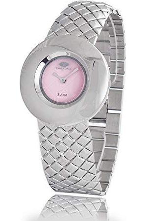 TIME FORCE Dames Horloges - Dameshorloge analoog kwarts met roestvrij stalen armband TF2650L-04M-1