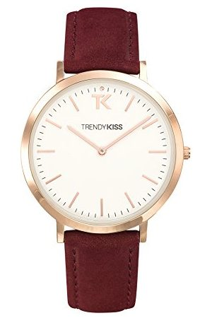 Trendy Kiss Dames Horloges - Dameshorloge analoog kwarts met lederen armband TR10089-01R