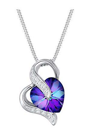 Elli Dames Kettingen - Dames.925 Sterling Silber Zilver Brillantschliff kristal