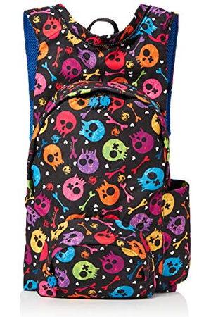 Morikukko Rugzakken - Unisex-Adult Rugzak met capuchon Basic Skull Rugzak Multi kleuren (Basic Skull Blue)