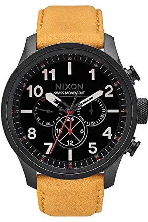 Nixon Heren Armbanden - Digitaal kwartshorloge voor heren, met leren armband, A1082-2448-00