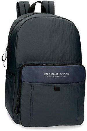 Pepe Jeans Factory rugzak voor laptops met 39,6 cm (15,6 inch), blauw, 32 x 44 x 15 cm, polyester en PU, 21,12 l