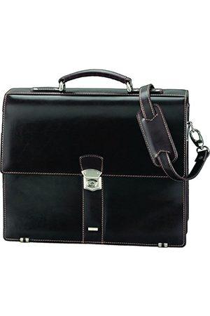 Alassio Dames Laptop- & Businesstassen - 47022 - aktetas MONACO, van plantaardig gelooid leer, ca. 38,5 x 31,5 x 15 cm, donkerbruin-antiek