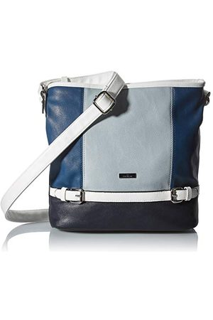 TOM TAILOR Dames Shoppers - Dames Juna Shopper, mixed blue, M