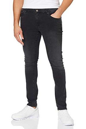 Urban classics Heren Slim - Heren Slim Fit Zip Jeans Broek