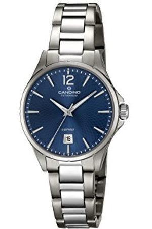 Candino Dames Horloges - Dames datum klassiek kwarts horloge met titanium armband C4608/2