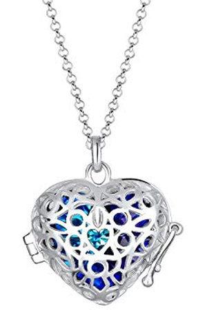 Elli Dames Kettingen - Halsketting *Tausch dein Herz* Kristalle 925 Silber