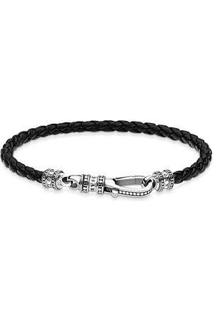 Thomas Sabo Uniseks leren armband karabijnhaak 925 sterling zilver A1931-682-11-L17