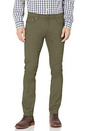 Amazon Heren Skinny-fit 5-Pocket Stretch Twill Pant,Olijf,29W / 32L