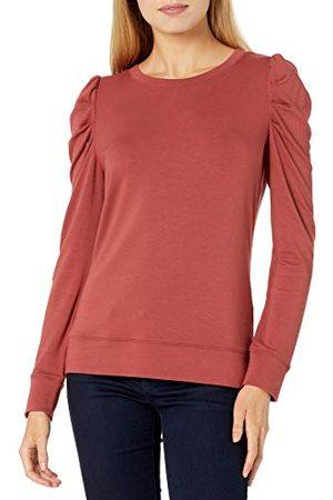 Daily Ritual Amazon Brand - Dagelijks Ritueel Vrouwen Supersoft Terry Plissé-Sleeve Sweatshirt,Baksteen,S-M