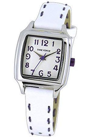 TIME FORCE Meisjes Armbanden - Analoog kinderhorloge met leren armband TF4114B06