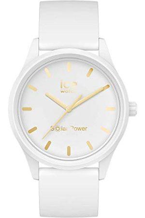 Ice-Watch ICE solar power White gold - dameshorloge met siliconen armband - 018474 (Maat S)