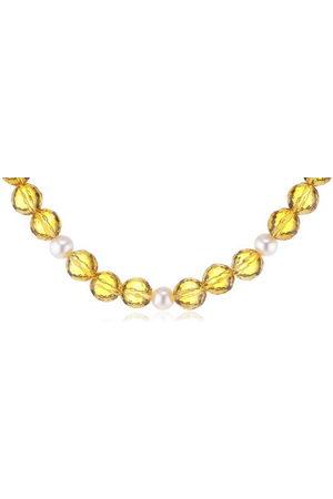 NINA Dames Kettingen - Jewelry dameshalsketting met citrien en zoet.Zp 925 sterling zilver 143
