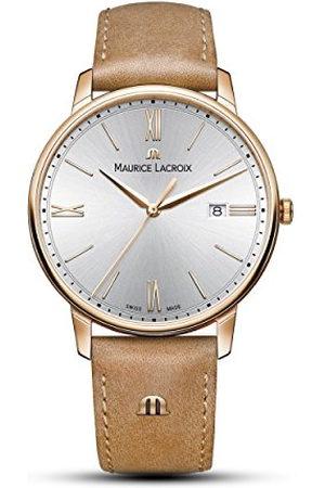 Maurice Lacroix Analoog kwartshorloge voor heren, met lederen armband EL118-PVP01-111-2