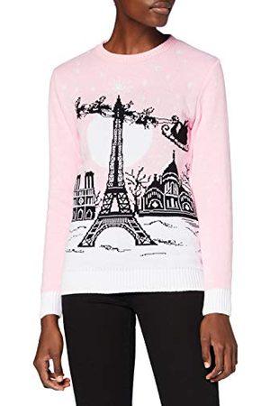 British Christmas Jumpers Dames Sweaters - Britse Kerst Jumpers vrouwen Parijs Eco Kerst Jumper trui