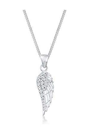 Elli Dames Kettingen - Halsketting 925 Vleugel Kristal