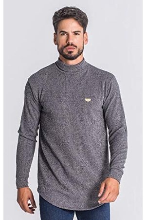 Gianni Kavanagh Grey Core Turtleneck Medal sweatshirt voor heren