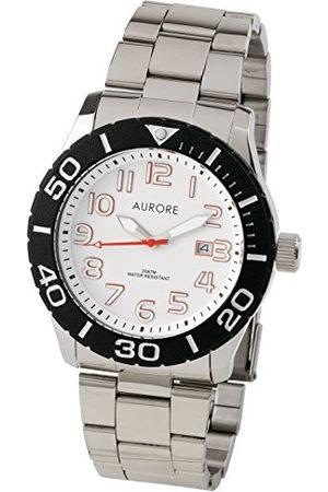 AURORE Heren Horloges - Arore herenhorloge, analoog, kwarts, met armband van roestvrij staal AH00044
