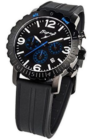 BOGEY Heren Horloges - Heren-chronograaf kwarts met rubberen band BSFS003BLBK