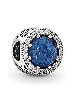 PANDORA Dames Sieraden - Charm middernachtblauwe stralenkrans van het hart