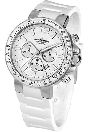Jacques Lemans Heren Horloges - Herenhorloge XL chronograaf kwarts siliconen 1-1768B