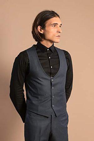 Wessi Heren Pakken - Slimfit kostuum voor heren met vest, Suit-Dress Set