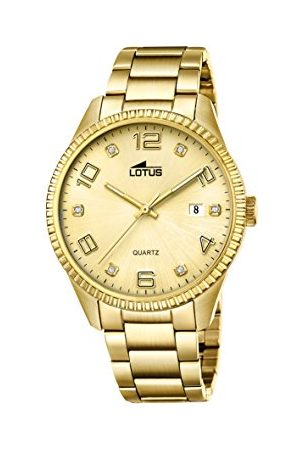 Lotus Heren Analoog Klassiek Quartz Horloge met RVS Band 18463/1