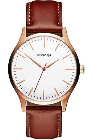 MVMT Heren Horloges - Heren analoog kwarts horloge met lederen armband D-MT01-WBR