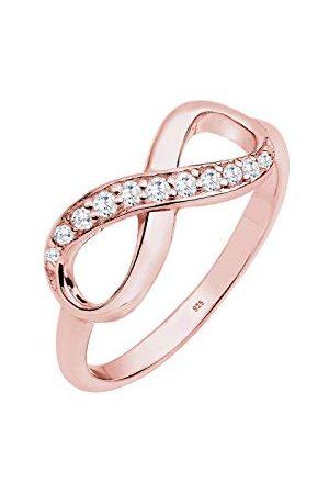 Elli Ringen Dames Infinity Symbol Trend met Zirconia Kristallen in 925 Sterling Zilver