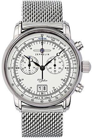 Zeppelin Herenhorloge 100 jaar chronograaf kwarts roestvrij staal 7690M1