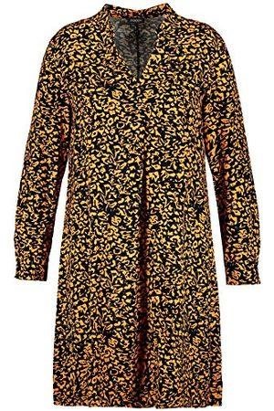 Samoon Damesjurk geweven casual jurk.