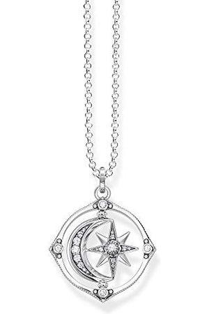 Thomas Sabo Dames Kettingen - Dameshalsketting met hanger, ster en maan, 70 cm