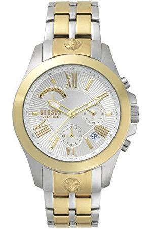 VERSACE Heren analoog kwarts horloge met roestvrij stalen armband VSPBH1418