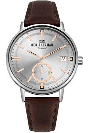 Ben Sherman Datum klassiek kwartshorloge met lederen armband WB071SBR