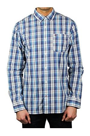 Tommy Hilfiger Heren Lange mouw - Heren Basic Reg Check Shirt L/S 13 T-shirt met lange mouwen