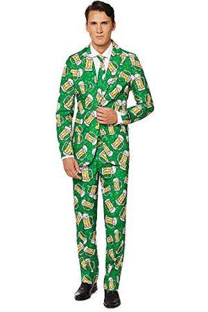 Suitmeister Heren Pakken - Everyday Pakken voor Heren - Beer Suit - Inclusief Broek, Jasje en Stropdas - XL