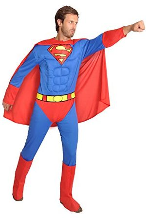 CIAO Heren Superman kostuum adulto Original DC Comics (Taglia L) met musccoli pettorali imbotti kostuums, / , L