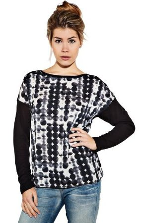 Esprit Dames Lange mouw - Dames shirt met lange mouwen 123EE1K009, ronde Tab