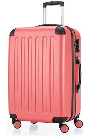 Hauptstadtkoffer SPREE - Harde koffer, trolleykoffer, uitbreidbare reiskoffer, TSA, 4 wielen, 65 cm, 74 liter, koraalrood