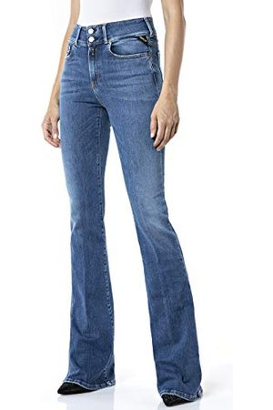 Replay Dames Bootcut - Dames Newluz Flare Jeans