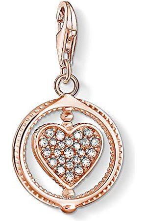 Thomas Sabo Charm-hanger, sterling zilver, verguld, zirkonia, hart, rosé
