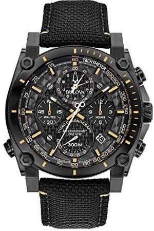 BULOVA Heren chronograaf kwartshorloge met nylon armband 98B318